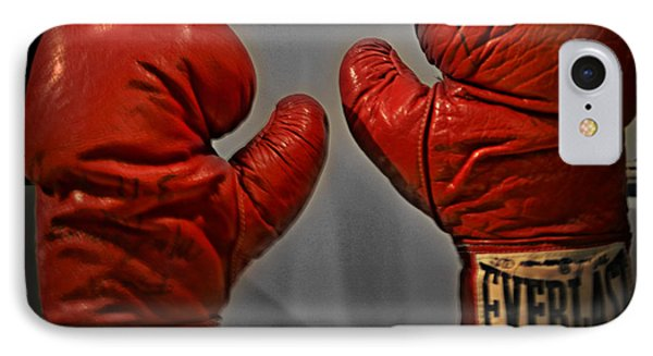 Muhammad Ali's Boxing Gloves Phone Case by Bill Cannon