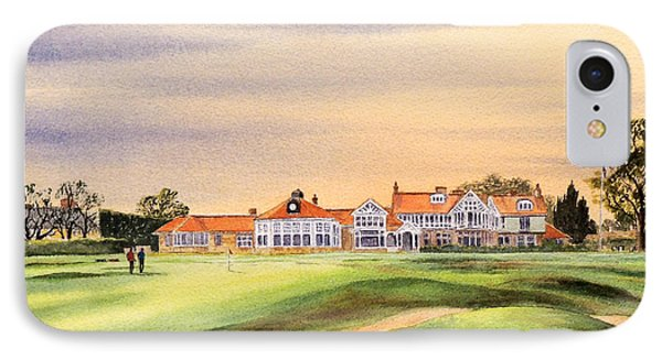 Muirfield Golf Course 18th Green IPhone Case by Bill Holkham