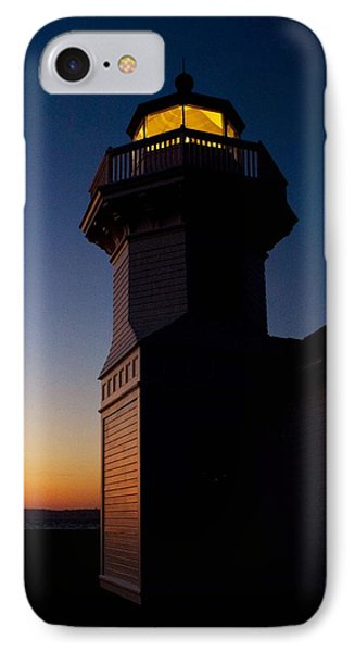 IPhone Case featuring the photograph Mukilteo Light House Sunset by Sonya Lang