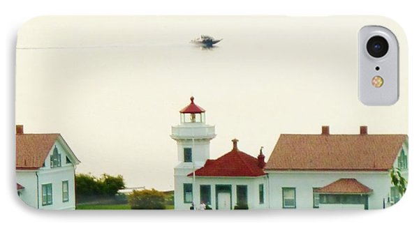 Mukilteo Lighthouse And The Lone Speedboat IPhone Case by Ann Michelle Swadener