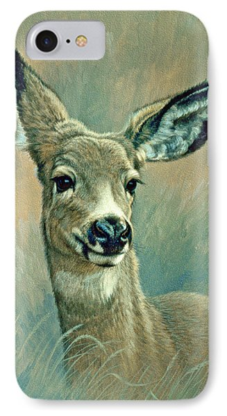 Muley Fawn At Six Months IPhone Case by Paul Krapf