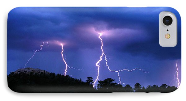Multi Arc Lightning Strike IPhone Case by Craig T Burgwardt