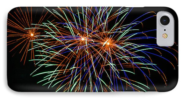 4th Of July Fireworks 22 Phone Case by Howard Tenke