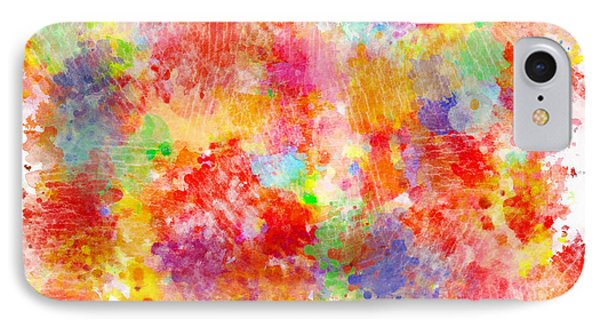 Multi Colored Ditgital Abstract 4 Phone Case by Debbie Portwood