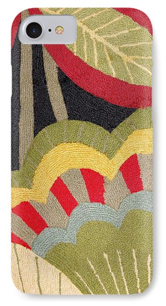IPhone Case featuring the photograph Multi-colored Flowers Leaves Textile by Janette Boyd