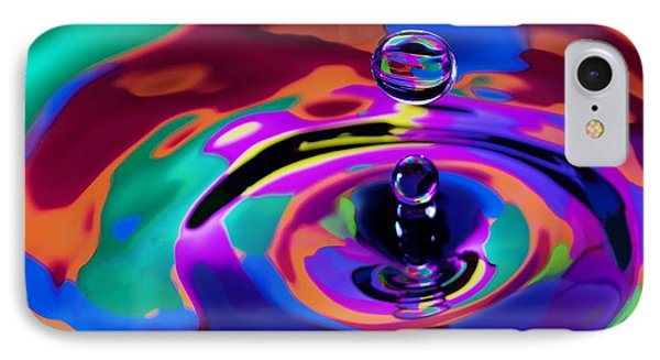 Multicolor Water Droplets 1 Phone Case by Imani  Morales