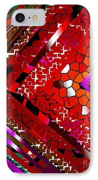 Multicolored Abstract Art Phone Case by Mario Perez