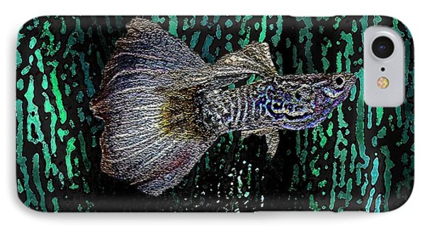 Multicolored Tropical Fish In Digital Art Phone Case by Mario Perez