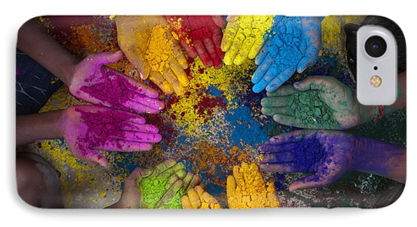 Multicoloured Hands Phone Case by Tim Gainey