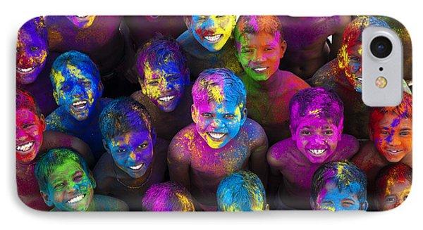 Multicoloured Happy Faces IPhone Case