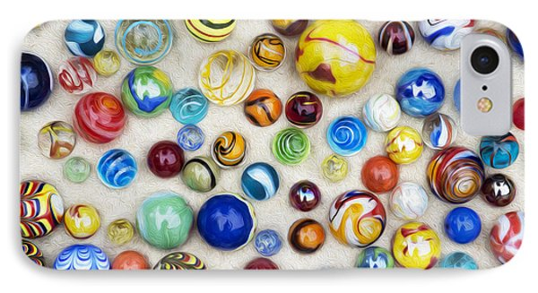 Multicoloured Marbles IPhone Case by Tim Gainey
