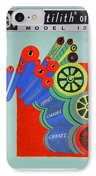 Multilith 1250 Ink Rollers Cylinders IPhone Case by Jack Pumphrey