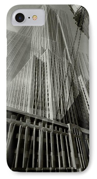 Multiple Exposure Of The Empire State Building IPhone Case by Edward Steichen