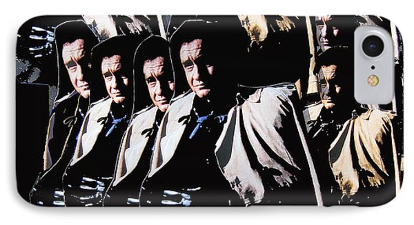IPhone Case featuring the photograph Multiple Johnny Cash In Trench Coat 1 by David Lee Guss