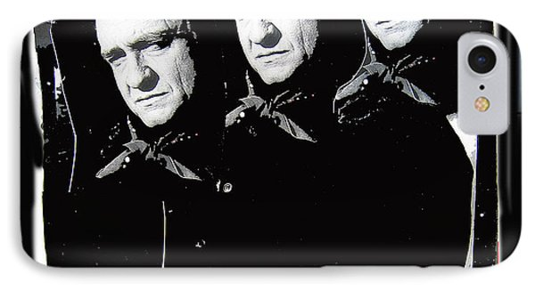 IPhone Case featuring the photograph Multiple Johnny Cash Sitting Old Tucson Arizona 1971-2008 by David Lee Guss