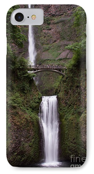 Multnomah Falls IPhone Case by Suzanne Luft