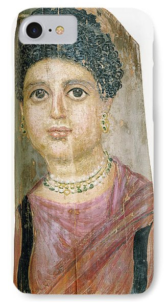 Mummy Portrait Attributed To Malibu Painter IPhone Case by Litz Collection