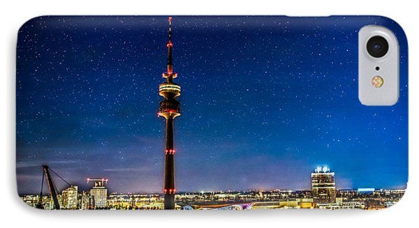 Munich City Nights - Olympiapark Phone Case by Hannes Cmarits