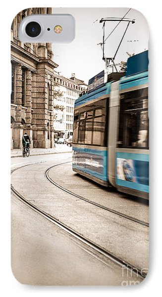 Munich City Traffic IPhone Case
