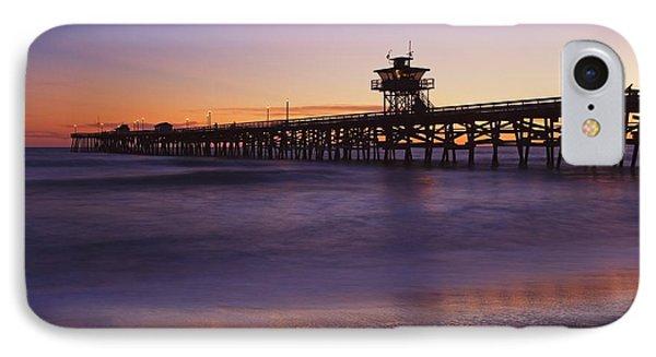 Municipal Pier At Sunset San Clemente Phone Case by Richard Cummins