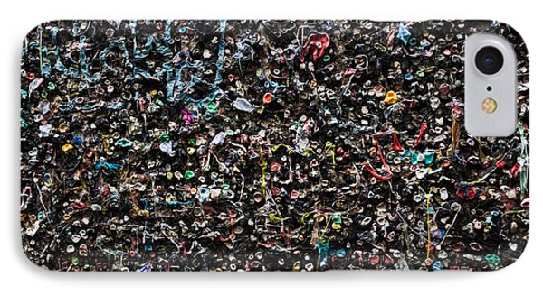 Mural Made Of Used Chewing Gums IPhone Case by Panoramic Images