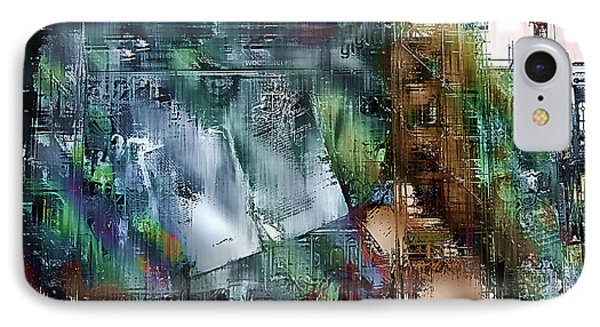 Mural Under Construction Phone Case by Barbara D Richards