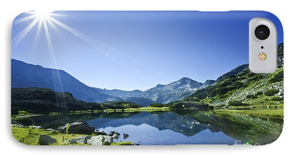 Muratov Lake Against Blue Sky Phone Case by Evgeny Kuklev