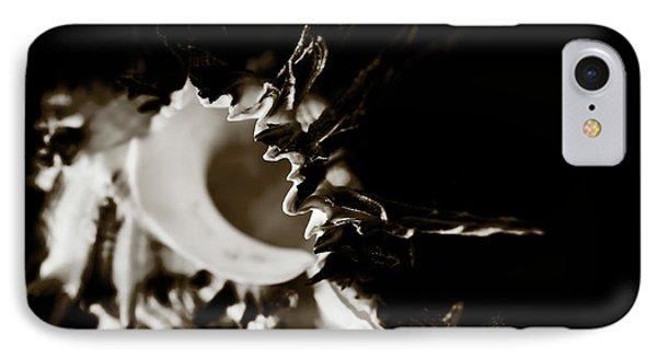 Murex Shell - Sepia Tone Phone Case by Charmian Vistaunet