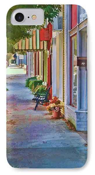 IPhone Case featuring the photograph Murphy Nc Sidewalk by Kenny Francis