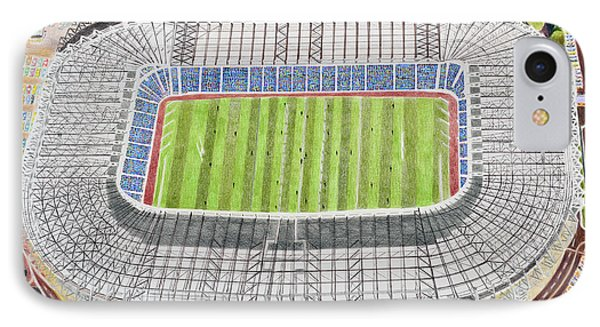 Murrayfield Stadia Art - Scotland Rugby Union IPhone Case