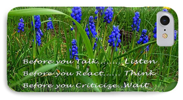 Muscari And Poem IPhone Case by Barbara Griffin