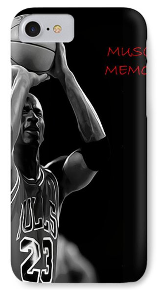 IPhone Case featuring the painting Muscle Memory by Brian Reaves