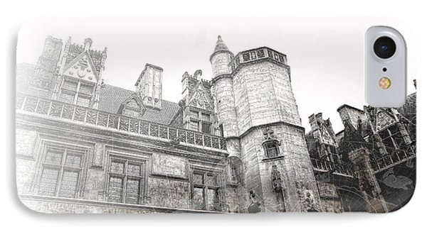 Musee De Cluny When The World Was Flat Phone Case by Evie Carrier