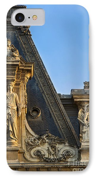Musee Du Louvre Rooftop IPhone Case by Brian Jannsen