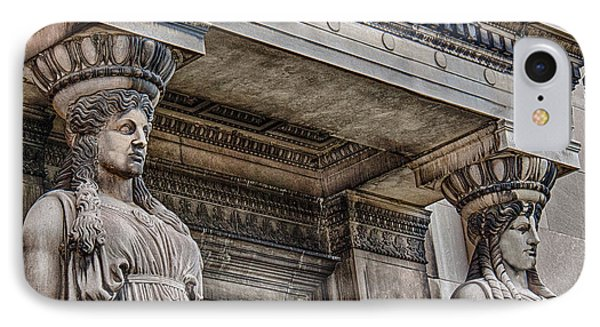 Museum Caryatids IPhone Case by Mike Burgquist