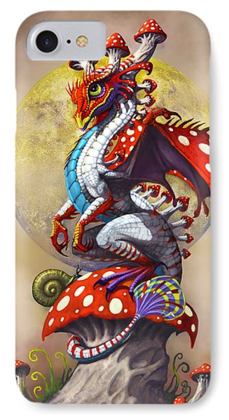 IPhone Case featuring the digital art Mushroom Dragon by Stanley Morrison