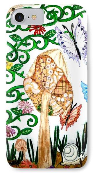 Mushroom Hunt Phone Case by Linda Egland