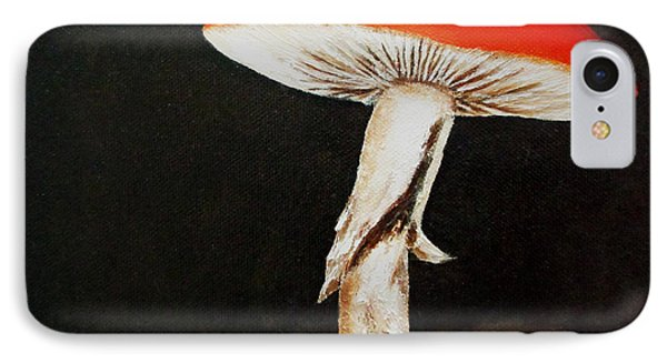 IPhone Case featuring the painting Mushroom by Roseann Gilmore