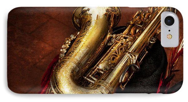 Music - Brass - Saxophone  Phone Case by Mike Savad