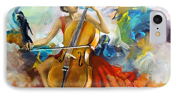 Music Colors And Beauty IPhone Case by Corporate Art Task Force