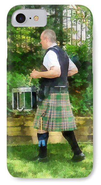 Music - Drummer In Pipe Band Phone Case by Susan Savad
