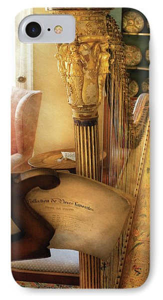Music - Harp - The Harp Phone Case by Mike Savad