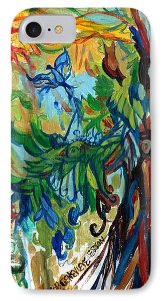 Music In Bird Of Tree Phone Case by Genevieve Esson