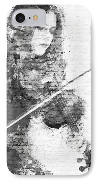 Music In My Soul Black And White IPhone Case by Nikki Marie Smith