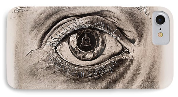 Music In The Eye IPhone Case by Art Imago