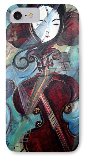 IPhone Case featuring the painting Music Of My Life by Dorothy Maier