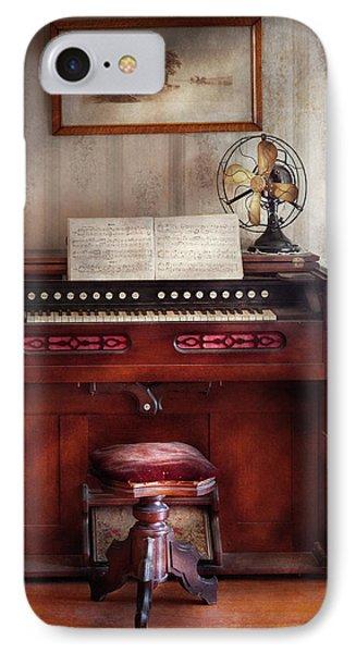 Music - Organist - My Grandmothers Organ Phone Case by Mike Savad