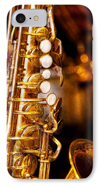 Music - Sax - Sweet Jazz  Phone Case by Mike Savad