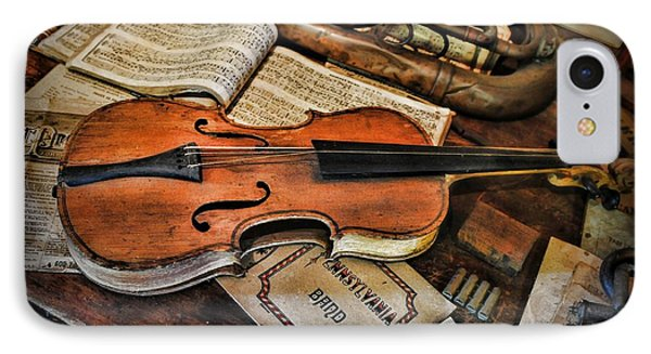 Music - The Violin Phone Case by Paul Ward
