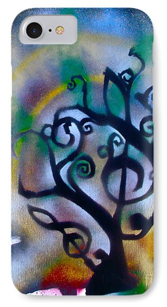 Musical Tree Blue IPhone Case by Tony B Conscious